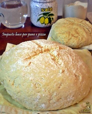 Ricetta impasto base per pane, pizza, schiacciate e simili