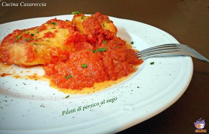 Filetti di persico al sugo