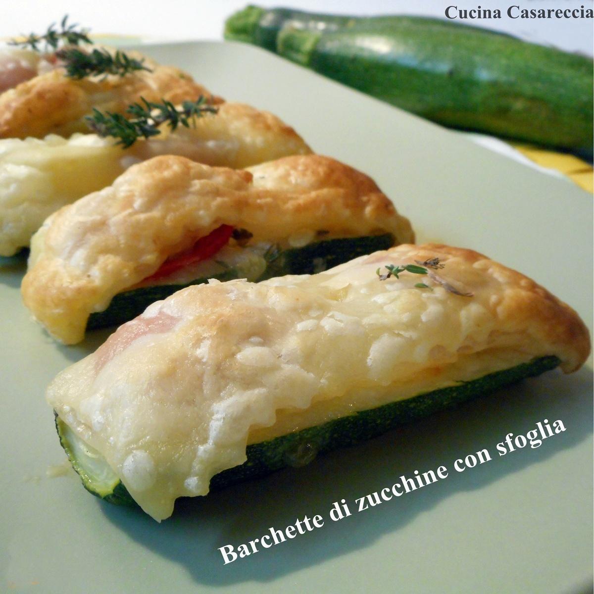 Barchette di zucchine con sfoglia