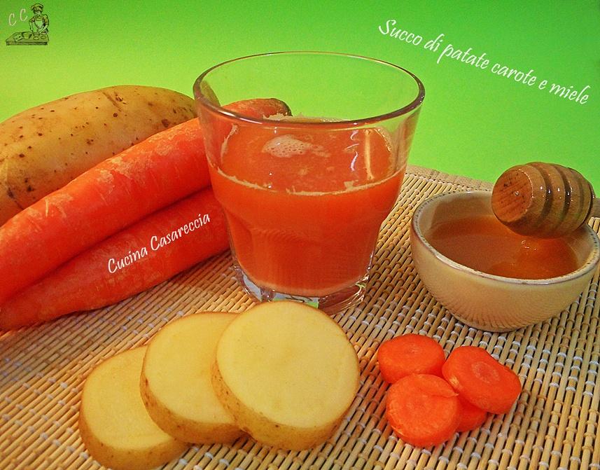 Succo di patate e carote