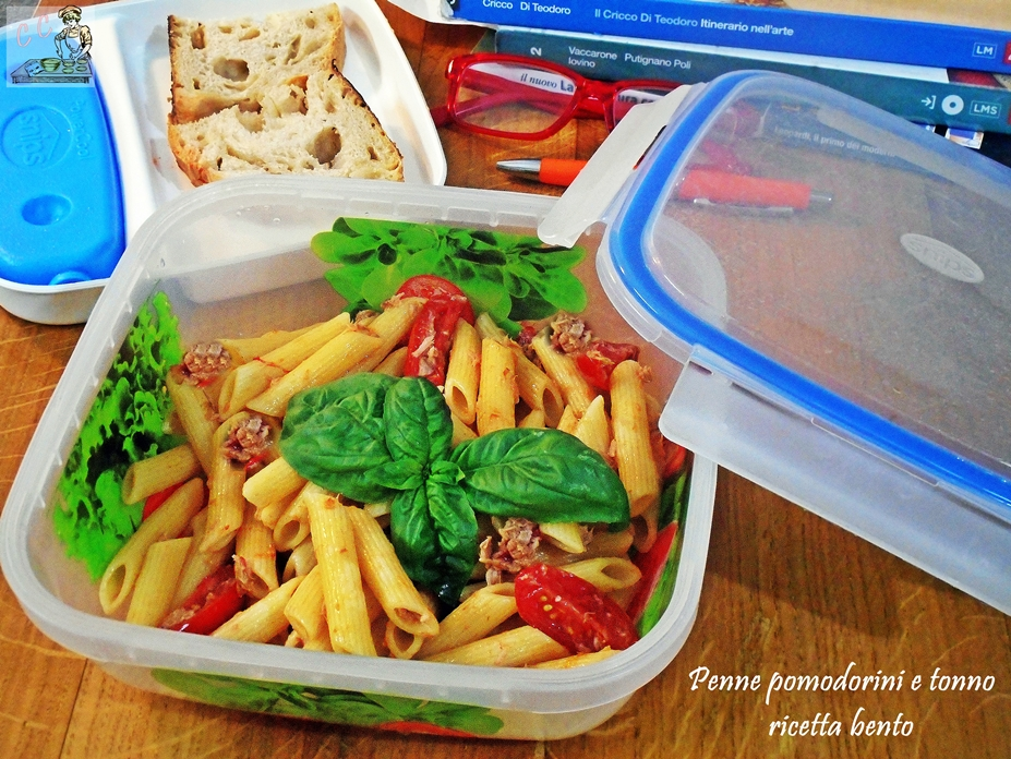 Penne pomodorini e tonno ricetta bento
