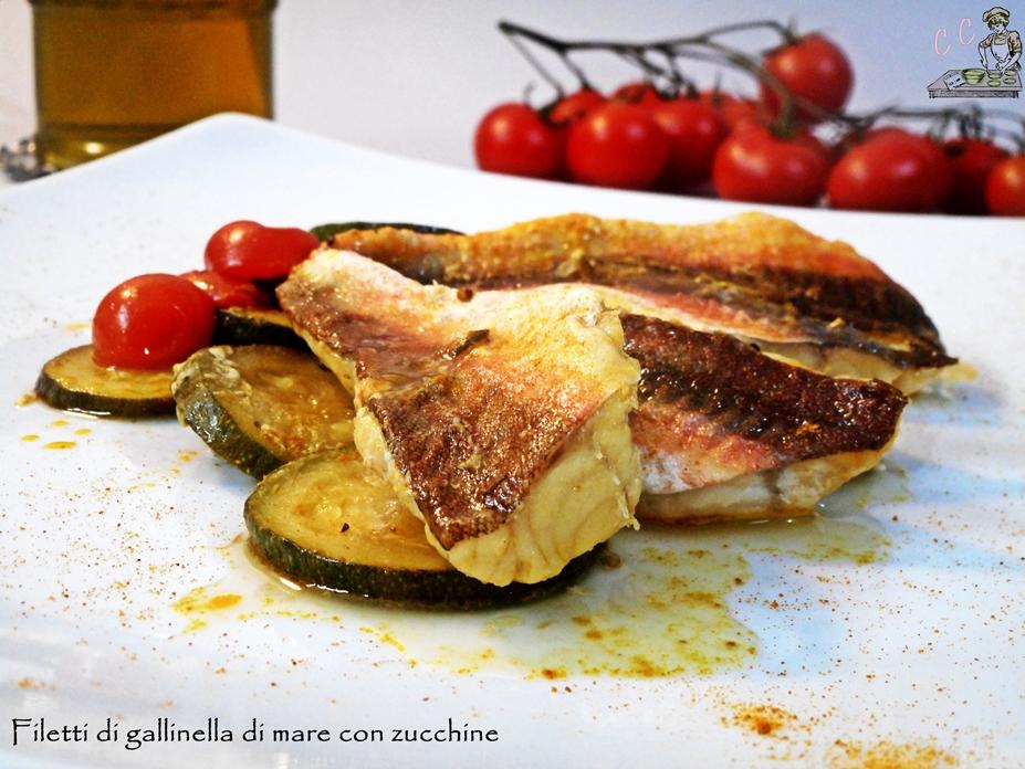 Filetti di gallinella con zucchine