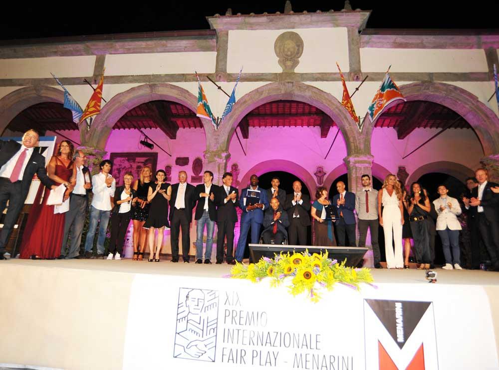 XX edizione del Premio internazionale Fair Play Menarini 2016