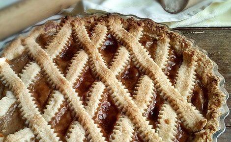 Crostata con crema pasticcera di farina di castagne